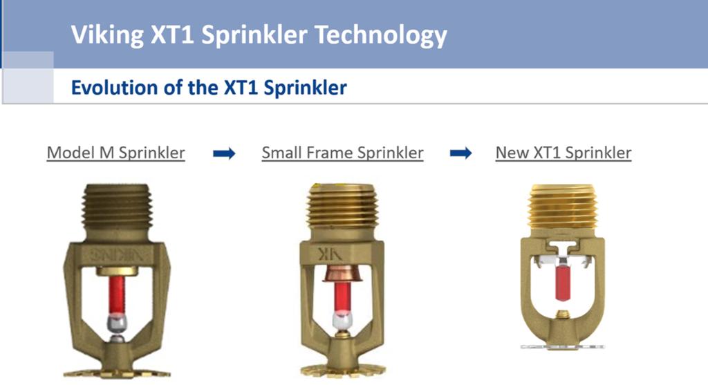 Viking Announces Transition to New XT1 Sprinkler Head