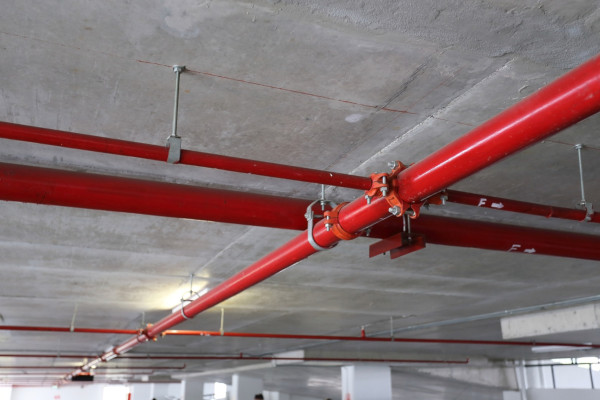 Picture of fire sprinkler pipe hanger