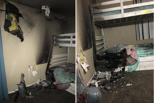 Pictures of sprinkler fire damage