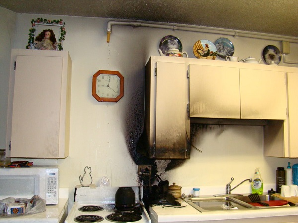 Picture of home fire damage